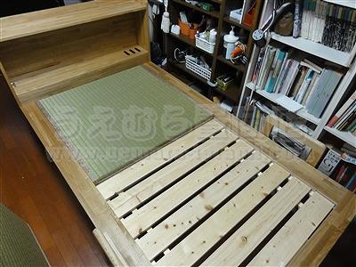 世界に一つ!自分に合わせたオーダーメイド畳ベッド施工例。日本産無添加きなり畳のうえむら畳2