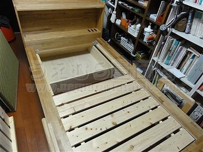 世界に一つ!自分に合わせたオーダーメイド畳ベッド施工例。日本産無添加きなり畳のうえむら畳3