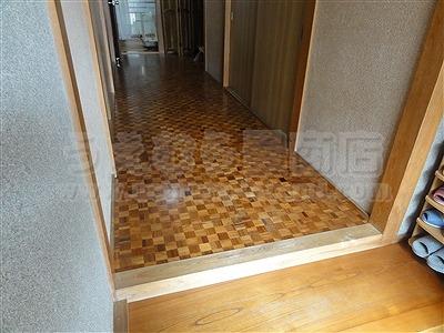 滑らなくて困ったワンニャン!!ペット畳(ペット用畳)カラー畳廊下施工例。(大東市)うえむら畳3