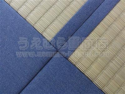 極太(GOKUBUTO)×デニム デザイン敷きを楽しむ きなり畳施工事例。縁無し琉球畳・へり付き畳・介護畳・お風呂畳・ペット畳のうえむら畳5