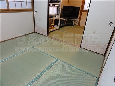 極太無添加い草のココチイイ、きなり畳シリーズ施工事例。(大東市)大阪府大東市のいまどきの畳屋さんうえむら畳6