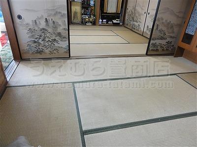 〇〇心地が違う・・・。きなり畳シリーズ・極太(GOKUBUTO)スタイルに模様替え・・・。大阪大東市家庭用国産畳専門店うえむら畳1