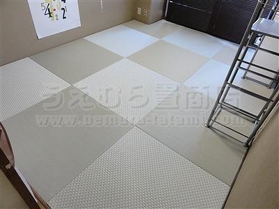 防ダニ、防カビ、耐水、不変色素材で念願の縁無し琉球畳へ模様替え。家庭用国産畳専門店いまどきの畳屋さんうえむら畳3
