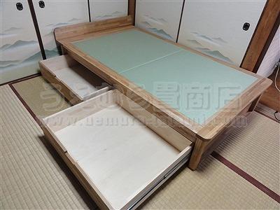 人生の三分の一の至福(カスタマイズオーダーメイド畳ベッド)家庭用国産畳専門店いまどきの畳屋さんうえむら畳6