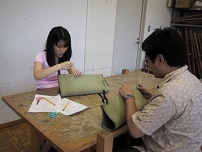 【畳の小物製作体験学習〜いぐさ枕編〜】畳の材料を利用して素敵な小物作り04