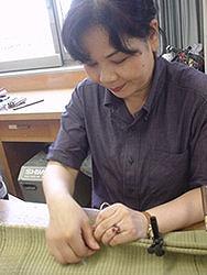 【畳の小物製作体験学習〜いぐさ枕編〜】畳の材料を利用して素敵な小物作り07