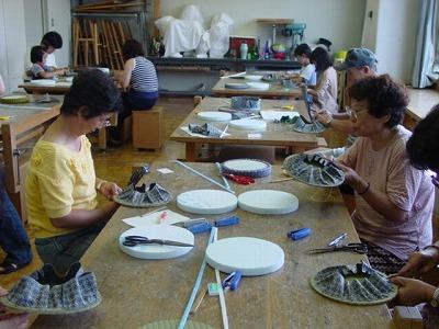 【畳の小物製作体験学習〜円形畳製作偏〜】畳の材料を利用して素敵な小物作り1