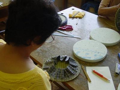 【畳の小物製作体験学習〜円形畳製作偏〜】畳の材料を利用して素敵な小物作り2