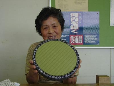 【畳の小物製作体験学習〜円形畳製作偏〜】畳の材料を利用して素敵な小物作り6