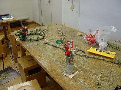 【畳の小物製作体験学習〜クリスマスリース製作偏〜】畳の材料を利用して素敵な小物作り4