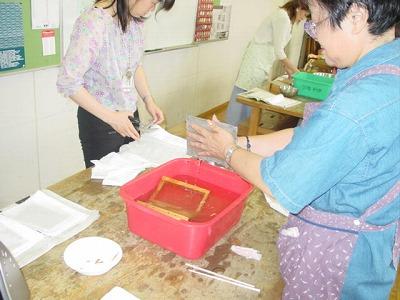 【畳の小物製作体験学習〜いぐさ手漉き和紙手紙編〜】畳の材料を利用して素敵な小物作り08