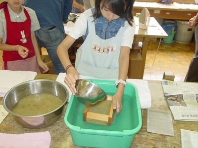 【畳の小物製作体験学習〜いぐさ手漉き和紙手紙編〜】畳の材料を利用して素敵な小物作り012