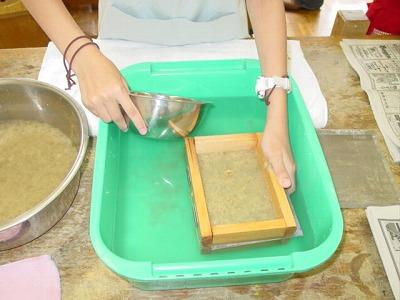【畳の小物製作体験学習〜いぐさ手漉き和紙手紙編〜】畳の材料を利用して素敵な小物作り013