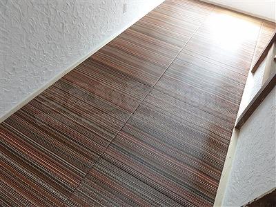 新色ッ!縁無し琉球畳アースカラーで床(フロアー)をもっと楽しく施工事例。大阪大東市イマドキの畳屋さん家庭用国産畳専門店うえむら畳6