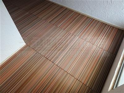 新色ッ!縁無し琉球畳アースカラーで床(フロアー)をもっと楽しく施工事例。大阪大東市イマドキの畳屋さん家庭用国産畳専門店うえむら畳8