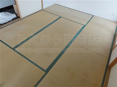 奈良県生駒市ペット対応用縁無しカラー琉球畳施工事例。大阪府大東市いまどきの畳屋さん家庭用国産畳専門店うえむら畳2
