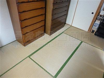 大阪畳大東市モモサクラ新畳施工事例。家庭用国産畳専門店いまどきの畳屋さんうえむら畳1