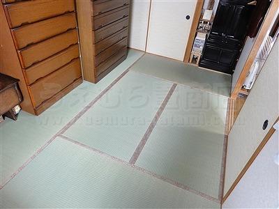 大阪畳大東市モモサクラ新畳施工事例。家庭用国産畳専門店いまどきの畳屋さんうえむら畳3