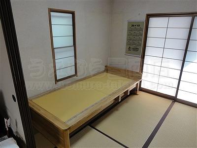 〜世界に一つオーダー畳(たたみ)ベッド快適生活〜高さや引き出し立ち上がり手すり身体にあわせた畳ベッド製作3