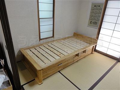 〜世界に一つオーダー畳(たたみ)ベッド快適生活〜高さや引き出し立ち上がり手すり身体にあわせた畳ベッド製作5