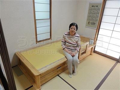 〜世界に一つオーダー畳(たたみ)ベッド快適生活〜高さや引き出し立ち上がり手すり身体にあわせた畳ベッド製作7
