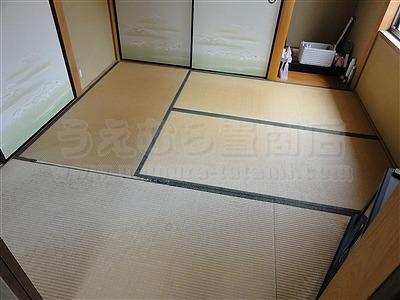 カラー暖色系縁無し琉球畳4帖半間施工事例(大阪府大東市)いまどきの畳屋さんうえむら畳2
