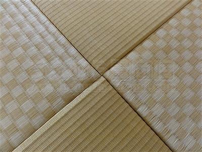 カラー暖色系縁無し琉球畳4帖半間施工事例(大阪府大東市)いまどきの畳屋さんうえむら畳8