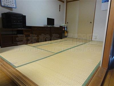老老介護にも傷つかない毛羽立たない滑らない安心安全な琉球畳に模様替えで、快適暮らし。お役にたてるお仕事イマドキの畳屋さんうえむら畳2