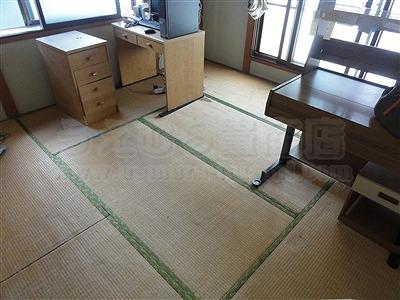 【わんにゃんペット用畳】うえむら畳ペット用畳で犬の粗相も防水畳で安心暮らし・・・。1
