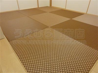 キレイな女性は得をする?縁無し琉球畳でダークでブラウンなお部屋に模様替え・・・。(大阪府大東市マンション縁無し琉球畳施工事例)5