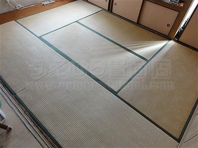 カラー市松柄縁無し琉球畳が6帖間のお部屋をステキに模様替え(大阪大東市)3