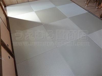カラー市松柄縁無し琉球畳が6帖間のお部屋をステキに模様替え(大阪大東市)4