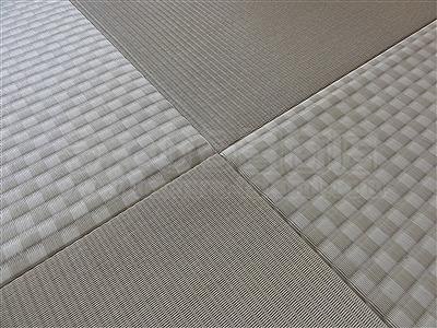 カラー市松柄縁無し琉球畳が6帖間のお部屋をステキに模様替え(大阪大東市)7