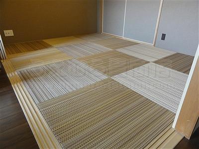 NEWアースカラー極薄縁無し琉球畳施工事例(大阪大東市)いまどきの畳屋さん家庭用国産畳専門店うえむら畳6