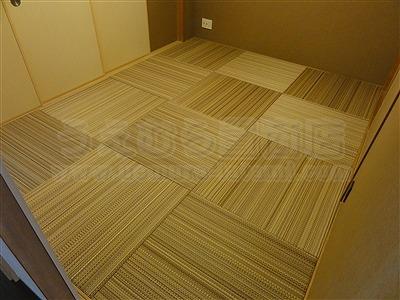 NEWアースカラー極薄縁無し琉球畳施工事例(大阪大東市)いまどきの畳屋さん家庭用国産畳専門店うえむら畳8