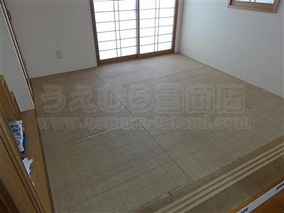 カラー琉球畳に変更で傷み破れを解消(大阪大東市)家庭用国産畳専門店いまどきの畳屋さんうえむら畳1