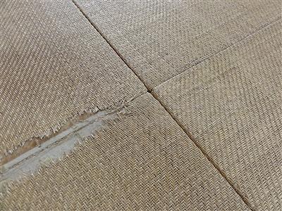 カラー琉球畳に変更で傷み破れを解消(大阪大東市)家庭用国産畳専門店いまどきの畳屋さんうえむら畳2