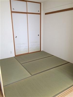 厚み15ミリの極薄畳を表替え。(大阪大東市)安全安心家庭用国産畳専門店うえむら畳5