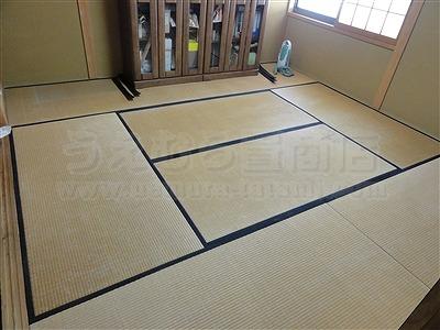 純白色縁無し琉球畳に模様替えでウキウキ暮らし・・・。大阪家庭用国産畳専門店うえむら畳2