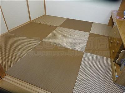 縁無し琉球畳表替え(おもてがえ)でモダンスタイルに模様替え施工事例大阪イマドキの畳屋さんうえむら畳3