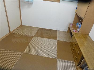 縁無し琉球畳表替え(おもてがえ)でモダンスタイルに模様替え施工事例大阪イマドキの畳屋さんうえむら畳5
