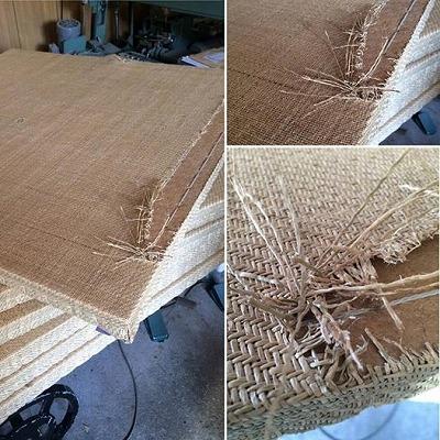 今回のご依頼・・・ 破れてしまった縁無し琉球畳を表面のみ新しく取替えます 表替え(おもてがえ)の施工事例です。7