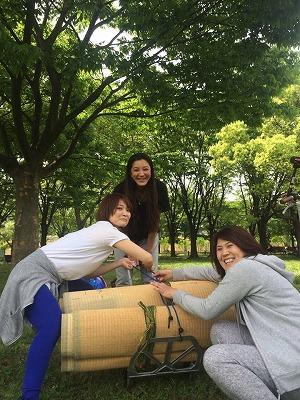 〜あおぞらヨガを畳屋さんがリサイクルゴザで応援〜大阪家庭用国産畳専門店うえむら畳