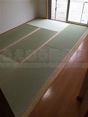 洋間から畳(フローリング畳)へ模様替え:大阪大東市家庭用国産畳専門店いまどきの畳屋さんうえむら畳1