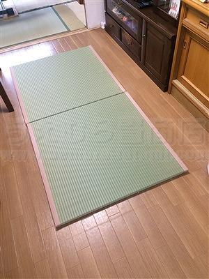 フローリングに自分TATAMIで暮らす。(大阪大東市)家庭用国産畳専門店うえむら畳2