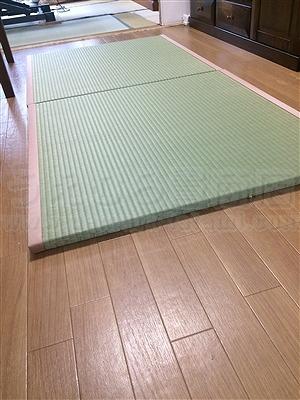 フローリングに自分TATAMIで暮らす。(大阪大東市)家庭用国産畳専門店うえむら畳3
