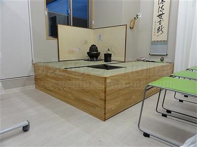 """和室では無いスペースに簡単組立て式茶道教室設置計画…""""こたえ""""(大阪府大東市)家庭用国産畳専門店イマドキの畳屋さんうえむら畳7"""
