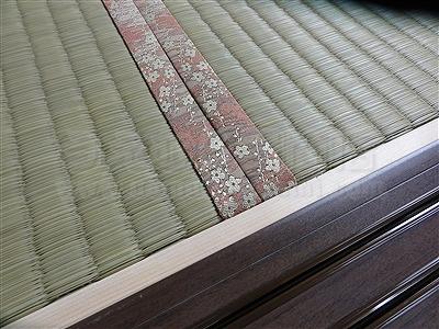 【ひのき畳極太い草デザイン敷き】分離発注がお得?ヒノキ畳で健康暮らし…。(兵庫県西宮市)家庭用国産畳専門店いまどきの畳屋さんうえむら畳1