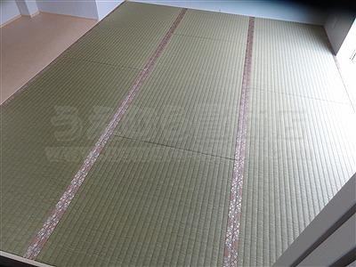 【ひのき畳極太い草デザイン敷き】分離発注がお得?ヒノキ畳で健康暮らし…。(兵庫県西宮市)家庭用国産畳専門店いまどきの畳屋さんうえむら畳2
