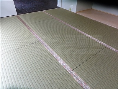 【ひのき畳極太い草デザイン敷き】分離発注がお得?ヒノキ畳で健康暮らし…。(兵庫県西宮市)家庭用国産畳専門店いまどきの畳屋さんうえむら畳5